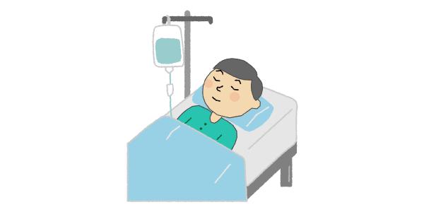 変形性股関節症の手術で入院しているイメージ画像